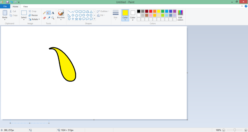 draw any shape in ms paint