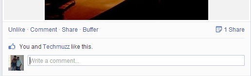 input box in facebook