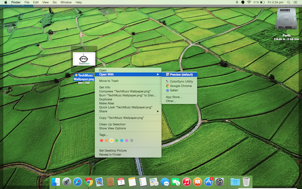 Open with preview in mac