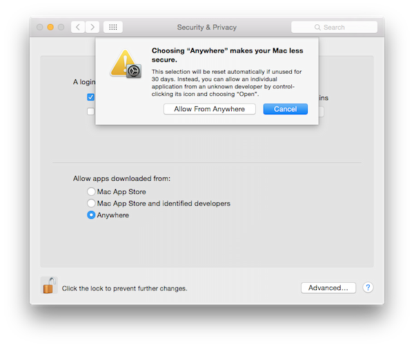 Use Applications Developed By Unidentified developers In Mac