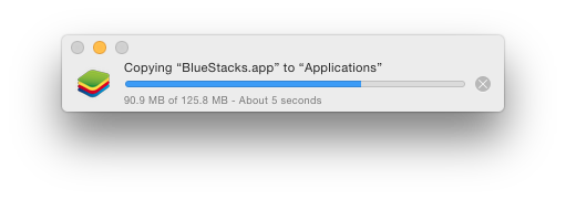 bluestacks coping in applications folder