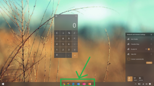 center align taskbar icons