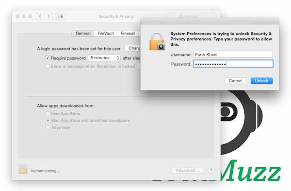 enter password to unlock security tabs
