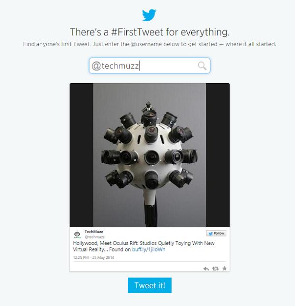 first tweet by techmuzz