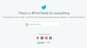 find your first tweet page