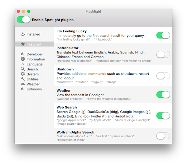flashlight app screen shot