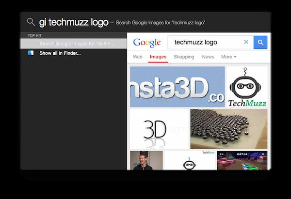 google image search from spotlight using flashlight app