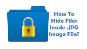 hide files in image