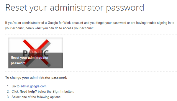 reset admin pass