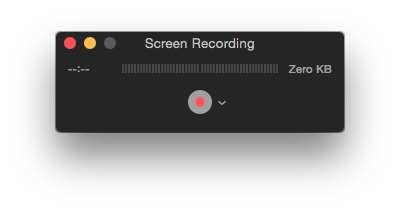 screen recording options