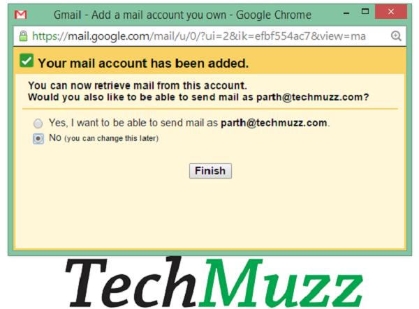 send mail from cutsom mail address