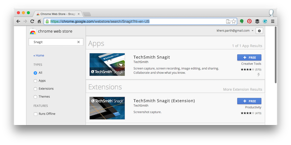 snagit app and extension