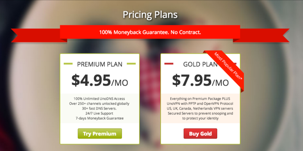 Unotelly price plans