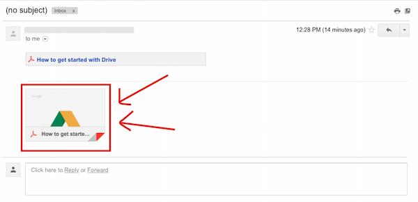 attach google drive file in gmail