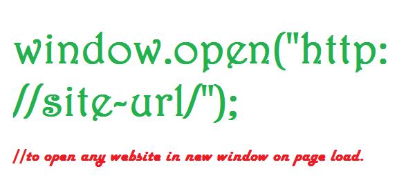 open any website in new window