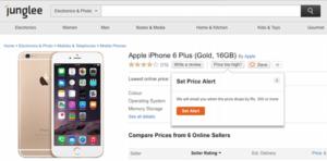 set price alerts on junglee