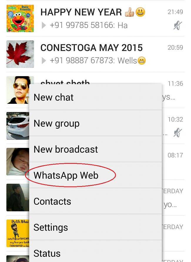 Select WhatsApp Web