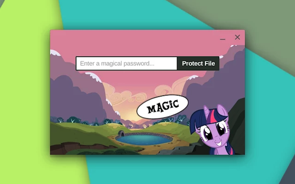 my little password chrome application
