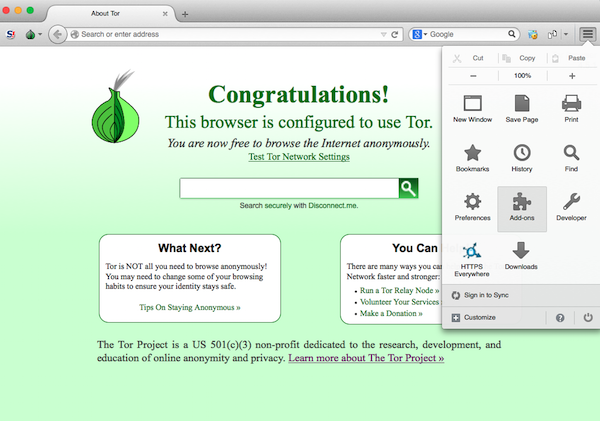Open Add-On In Tor browser