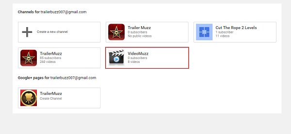 step 2 click on create a new channel