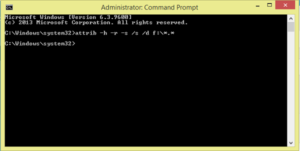 convert all the short cut files to original folder in usb drive