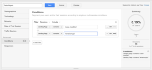 Track traffic of multiple pages in google analytics