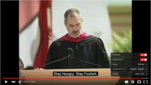 Steve Jobs Stay Hungry Stay foolish video subtitles download