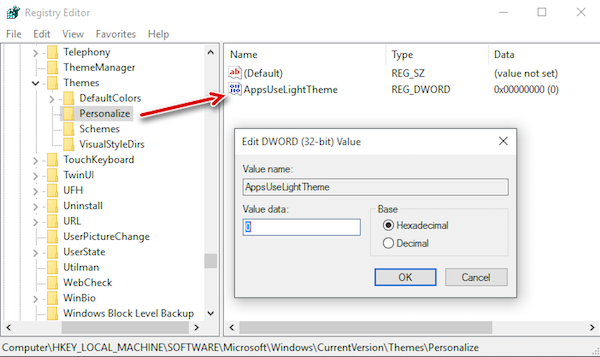 Use Dark Theme In Windows 10 - TechMuzz
