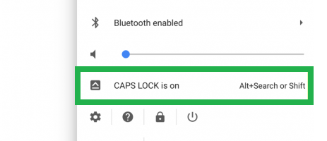 turn caps lock on Chromebook