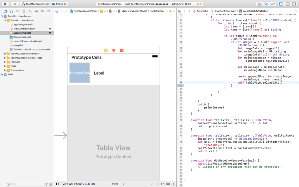 JSON parse xcode