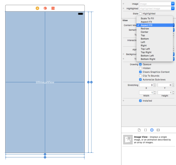 aspect fill xcode image view