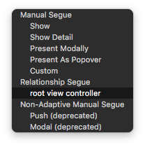 root view controller xcode