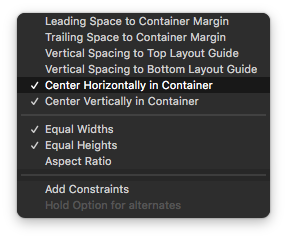 imageview constraints xcode