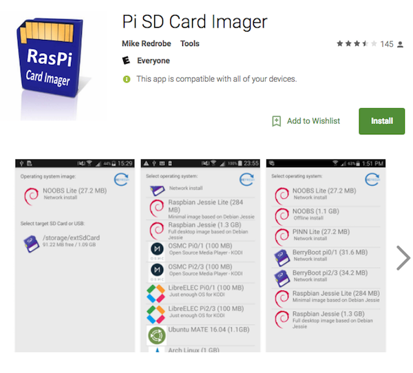 Pi SD Card Imager App
