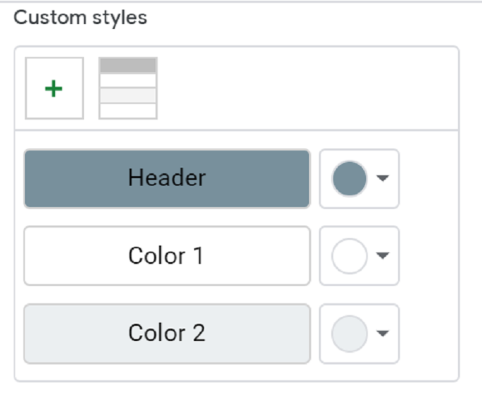 custom color rows in google sheets