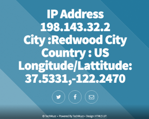 Find website visitors ip address