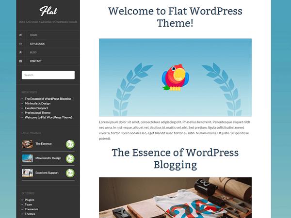 Flat Free blog theme for WordPress websites