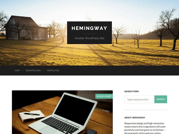 Hemingway Free WordPress Responsive Theme