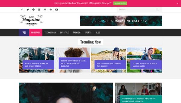 Free WordPress Blog Themes 2018