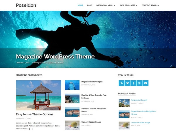 Poseidon Free WordPress Responsive Theme