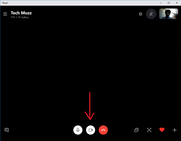 Video Settings while on skype video call